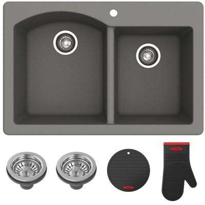 gray rectangular drop in kitchen sinks kitchen sinks the rh homedepot com