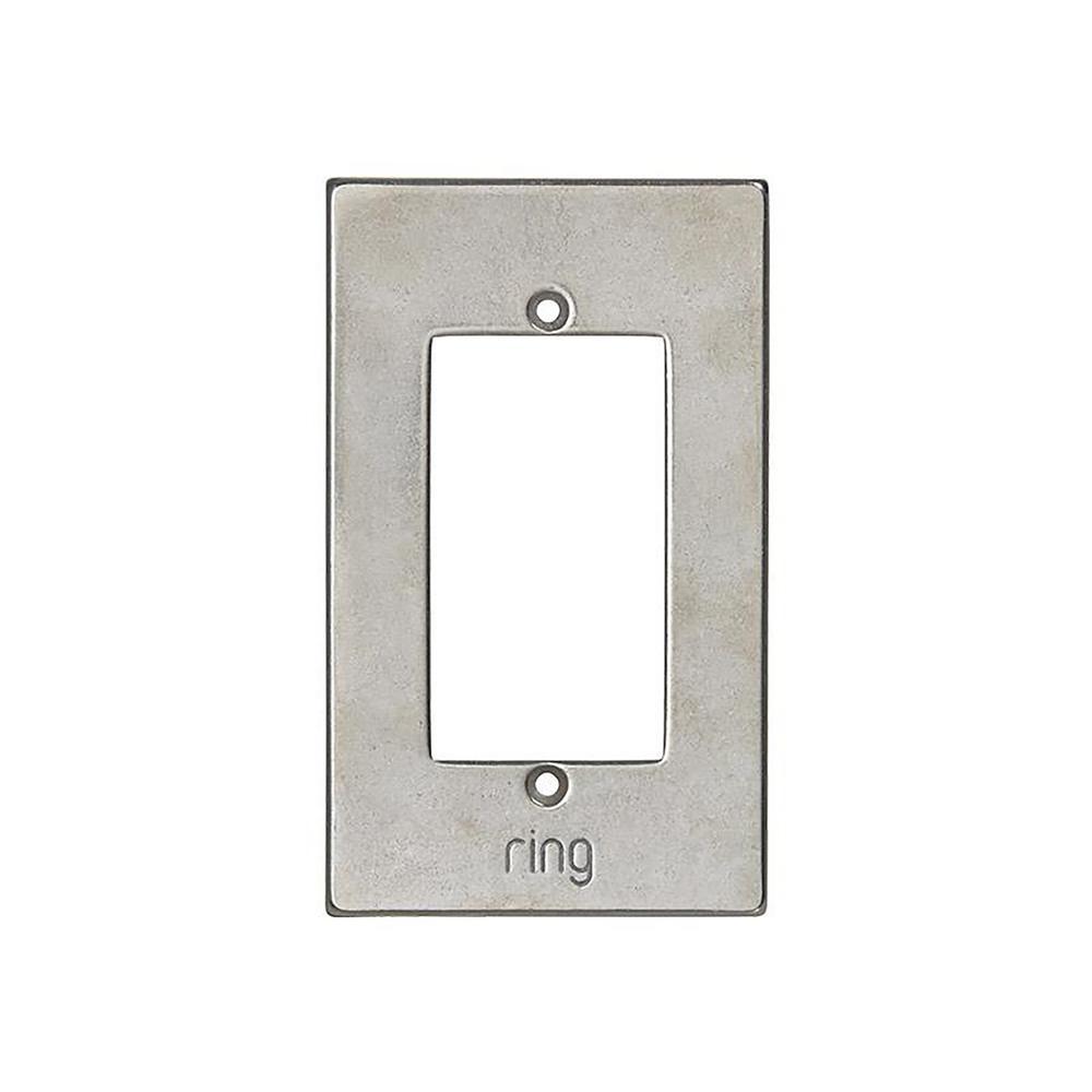 Wired Video Door Bell Elite White Bronze Light Faceplate