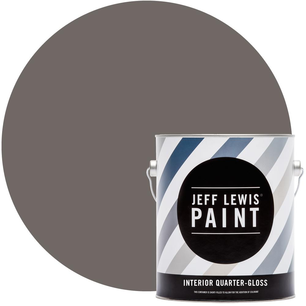 Jeff Lewis 1 gal. #116 Decaf Mocha Quarter-Gloss Interior Paint