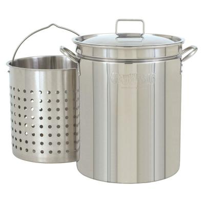 62 qt. Stainless Steel Stock Pot with Lid