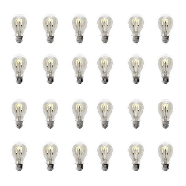 40-Watt Equivalent AT19 Dimmable Clear Glass Vintage Edison LED Light Bulb with H Shape Filament Warm White (24-Pack)