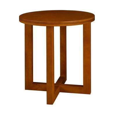 Chloe Cherry 21 in. Round End Table