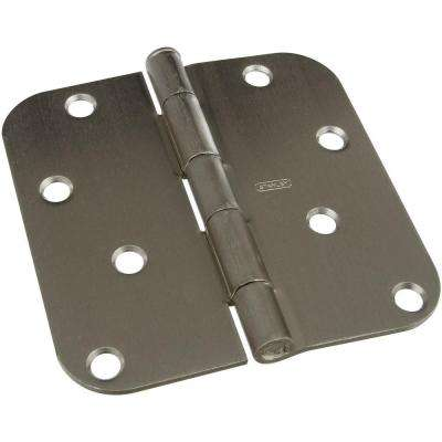 4 in. Satin Nickel Door Hinge
