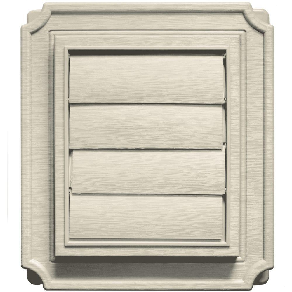 Builders Edge Scalloped Exhaust Siding Vent #089-Champagne