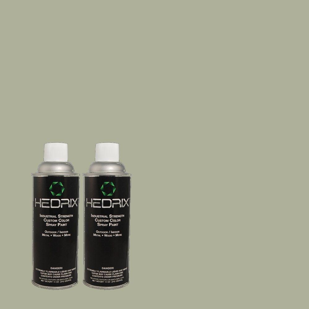 Hedrix 11 oz. Match of PPU11-15 Green Balsam Low Lustre Custom Spray Paint (8-Pack)