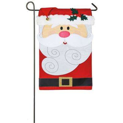 18 in. x 12.5 in. Santa Claus Garden Applique Flag