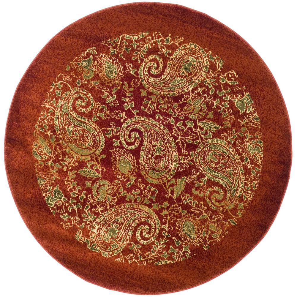 Lyndhurst Red/Multi 8 ft. x 8 ft. Round Area Rug