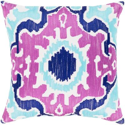 Garis Purple Graphic Polyester 20 in. x 20 in. Throw Pillow