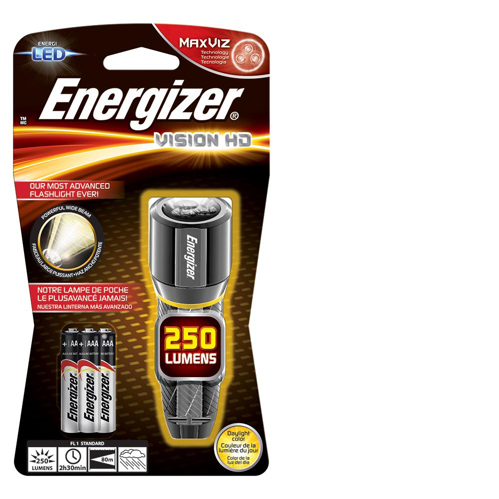 Energizer Performance Metal 250-Lumens Light, Silver