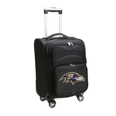 NFL Baltimore Ravens 21 in. Black Carry-On Spinner Softside Suitcase