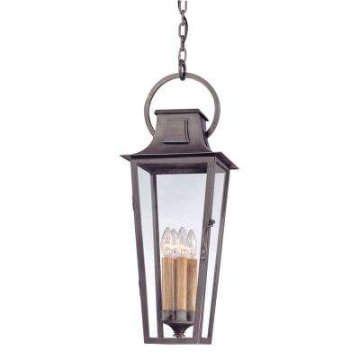 French Quarter 4-Light Aged Pewter Outdoor Pendant