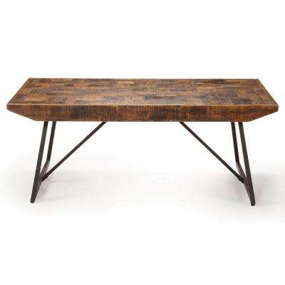 Walden Parquet Brown Tail Table