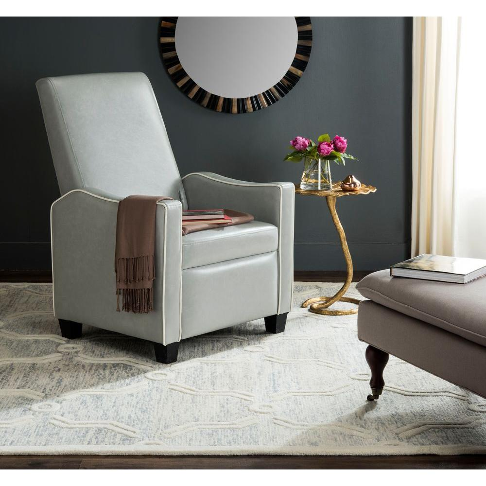 Holden Grey/White Bicast Leather Recliner