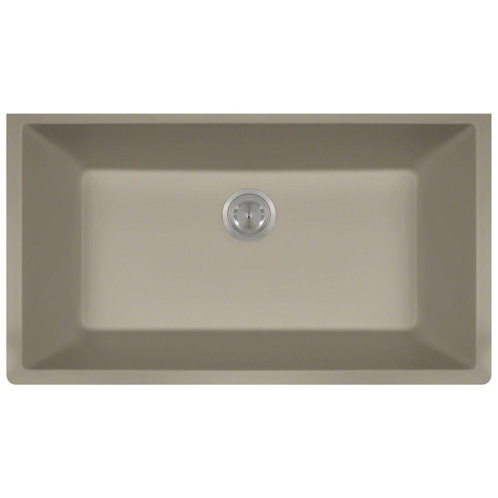 Charmant Polaris Sinks Undermount Granite 33 In. Single Bowl Kitchen Sink In Slate