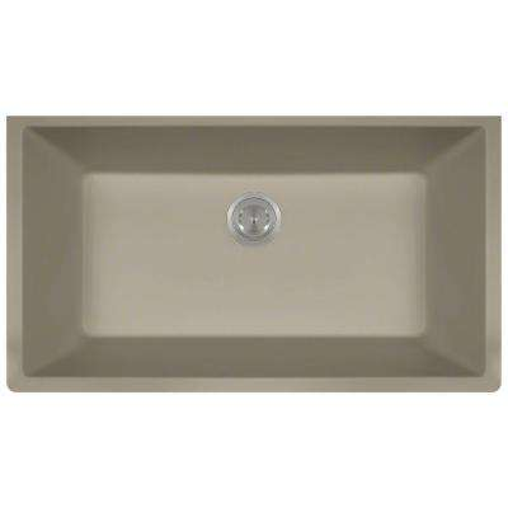 Undermount Granite 33 in. Single Bowl Kitchen Sink in Slate