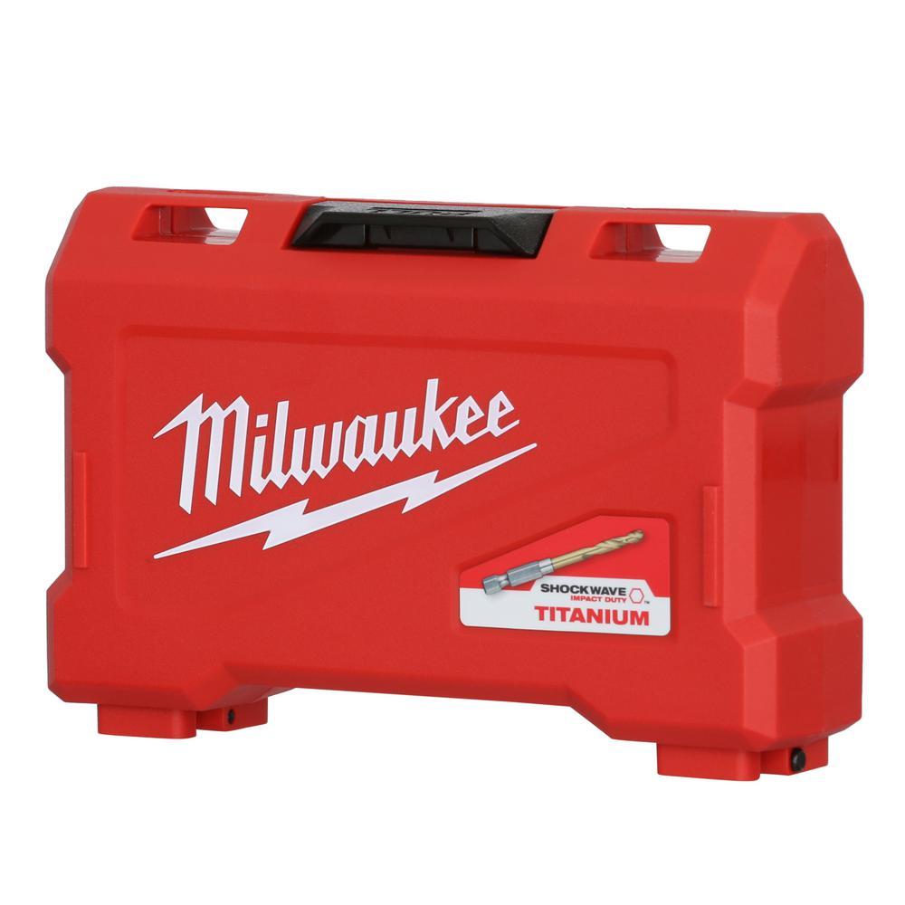 15-Pc. Milwaukee Titanium Shockwave Drill Bit Kit