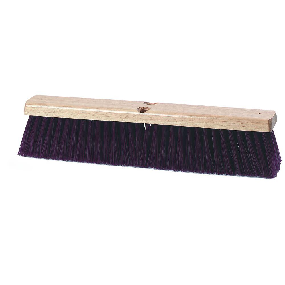 36 in. Maroon Crimped Polypropylene Garage Brush with Brace (6-Case)