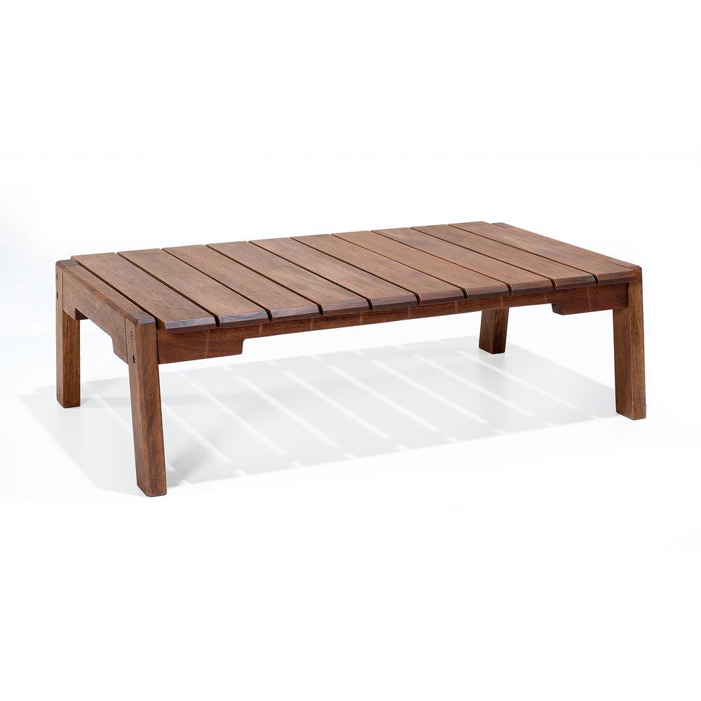 Otero Eucalyptus Wood Outdoor Coffee Table