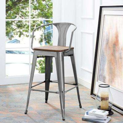 Promenade 30 in. Gunmetal Bar Stool