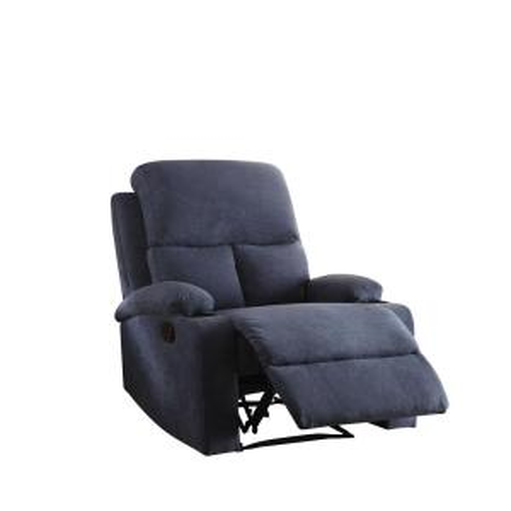 Acme Furniture Rosia Blue Recliner by Acme Furniture