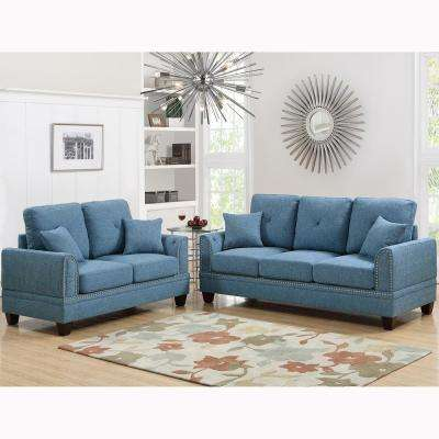 Gargano 2 Piece Sand Sofa Set