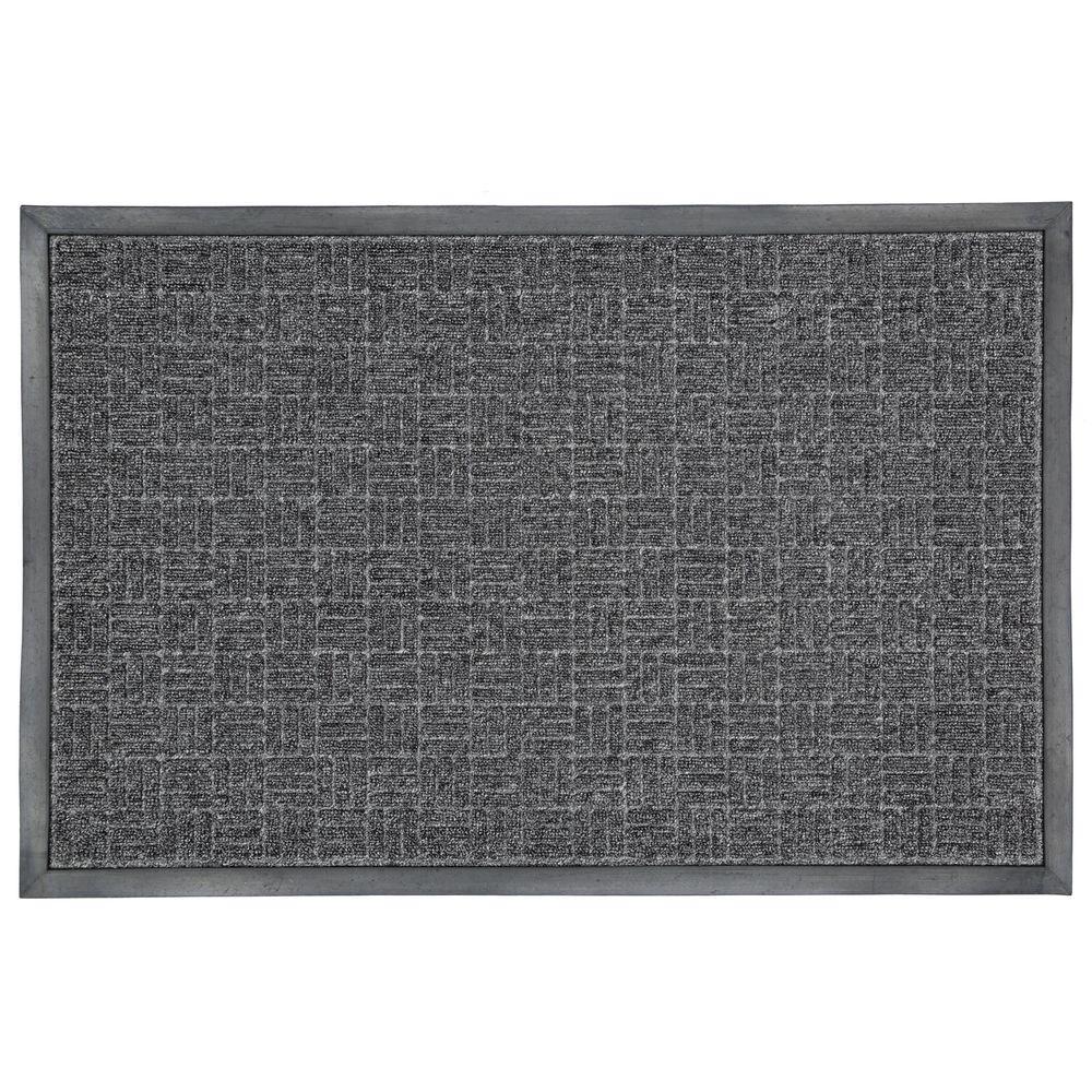 Charcoal 23.5 in. x 35.5 in. Rubber Commercial Door Mat