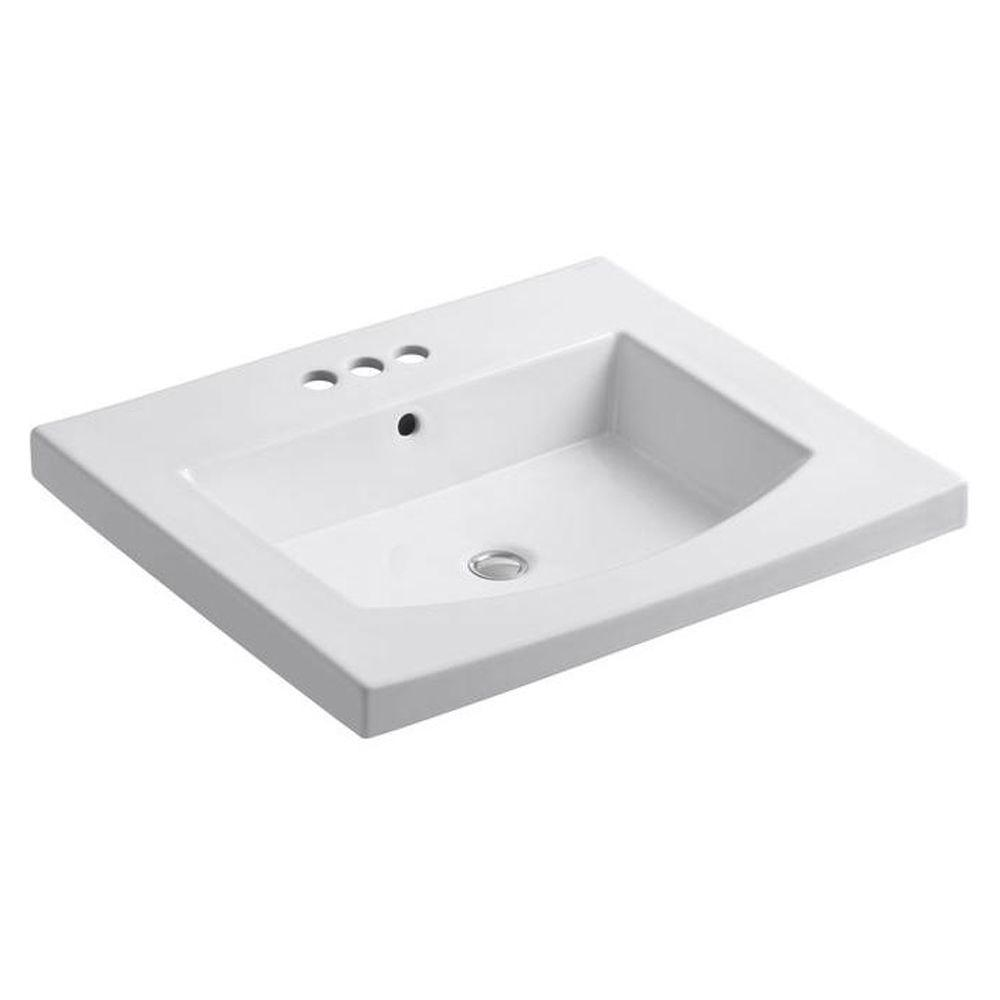 KOHLER Persuade 25.25 in. Vitreous China Vanity Top in White with Basin