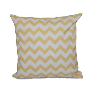 16 inch x 16 inch Chevron Decorative Pillow in Yellow by