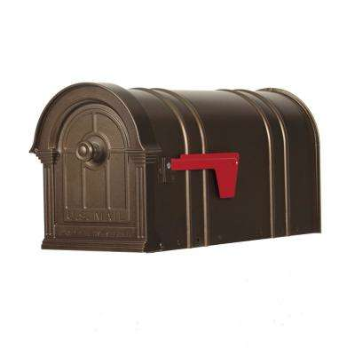 Manchester Bronze Steel and Aluminum Post Mount Mailbox