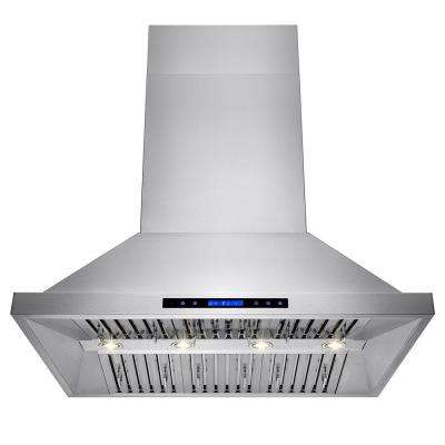 42 in. Dual Motor Kitchen Wall Mount Range Hood in Stainless Steel with Remote and Touch Control
