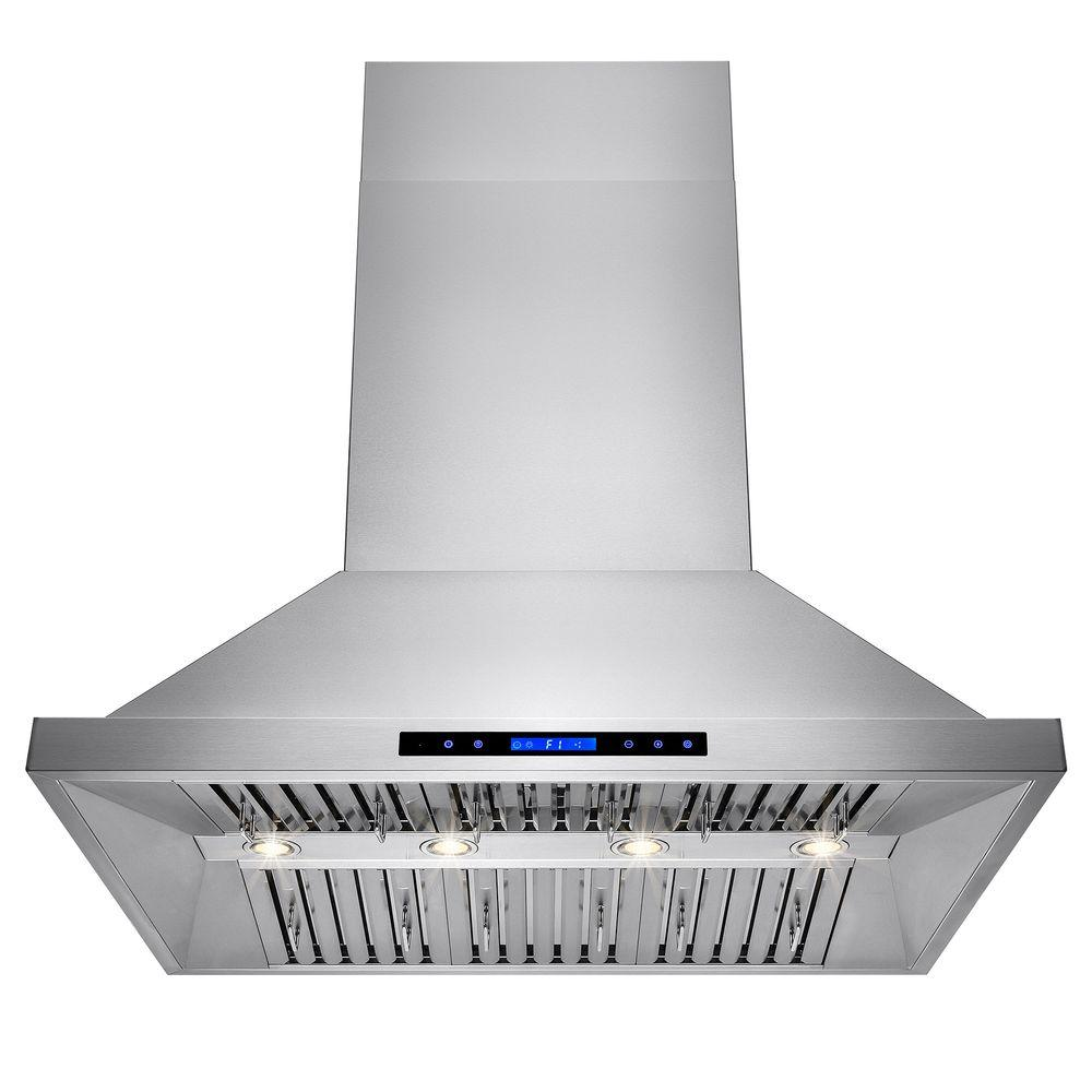 Akdy 42 In Dual Motor Kitchen Wall Mount Range Hood Stainless Steel With Remote