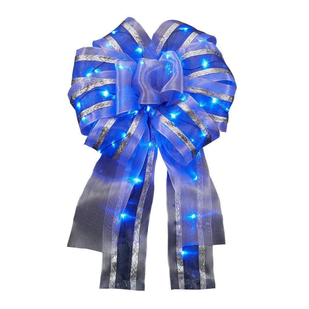 Meilo 12in. Ribbon Bow LED Blue
