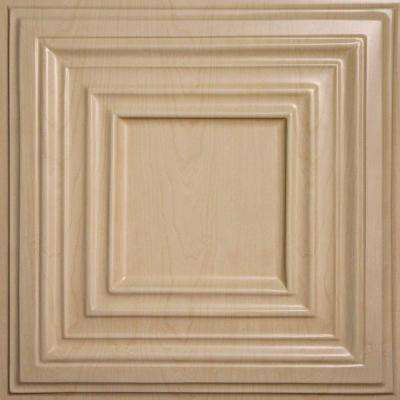 Bistro Faux Wood-Sandal 2 ft. x 2 ft. Lay-in or Glue-up Ceiling Panel (Case of 6)