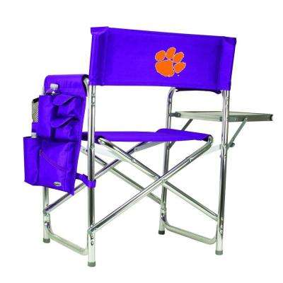 Clemson University Purple Sports Chair with Embroidered Logo