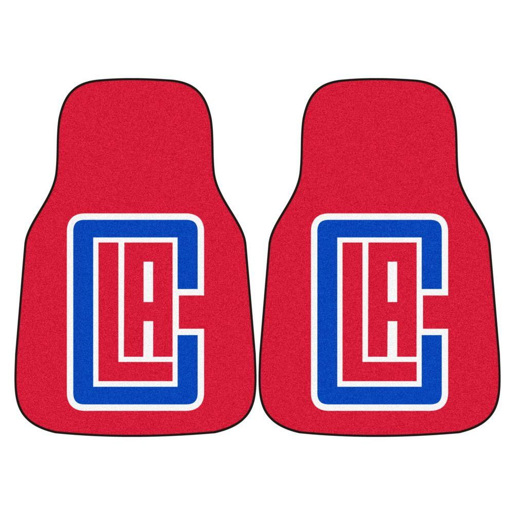 Los Angeles Clippers 18 in. x 27 in. 2-Piece Carpeted Car