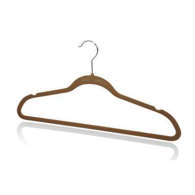 Brown Velvet Hanger (10-Pack)
