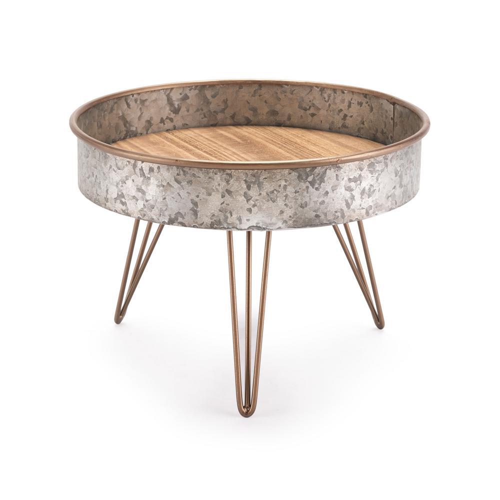 ZUO Zinc Gray Medium Round Tray Table