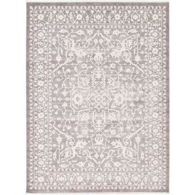 Arcadia Light Gray 10 ft. x 13 ft. Area Rug