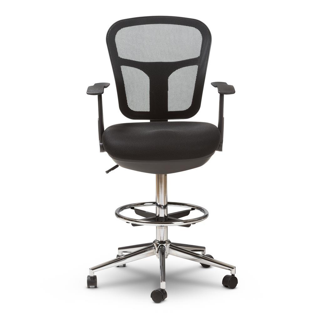 Landon Black Drafting Stool Chair