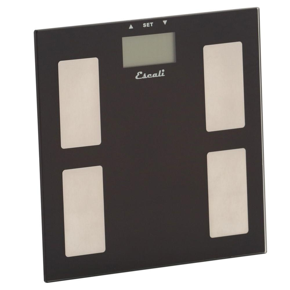 Escali Digital Glass Body Fat, Water and Muscle Mass Scale