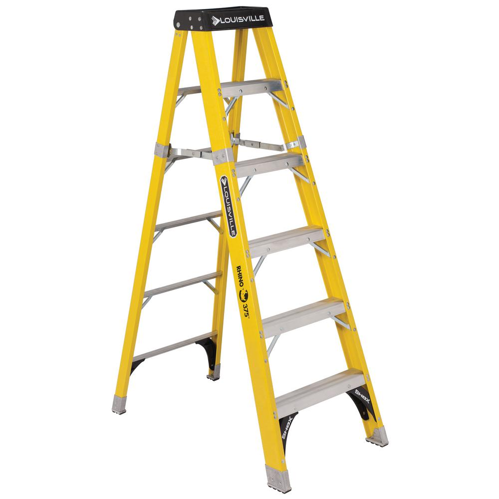Louisville Ladder 6 Ft Fiberglass Step Ladder With 375