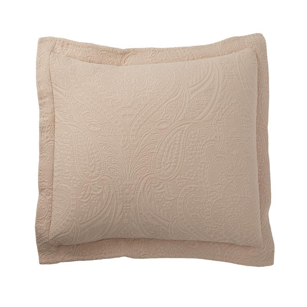 Hillcrest Matelasse Sandstone Cotton Euro Sham