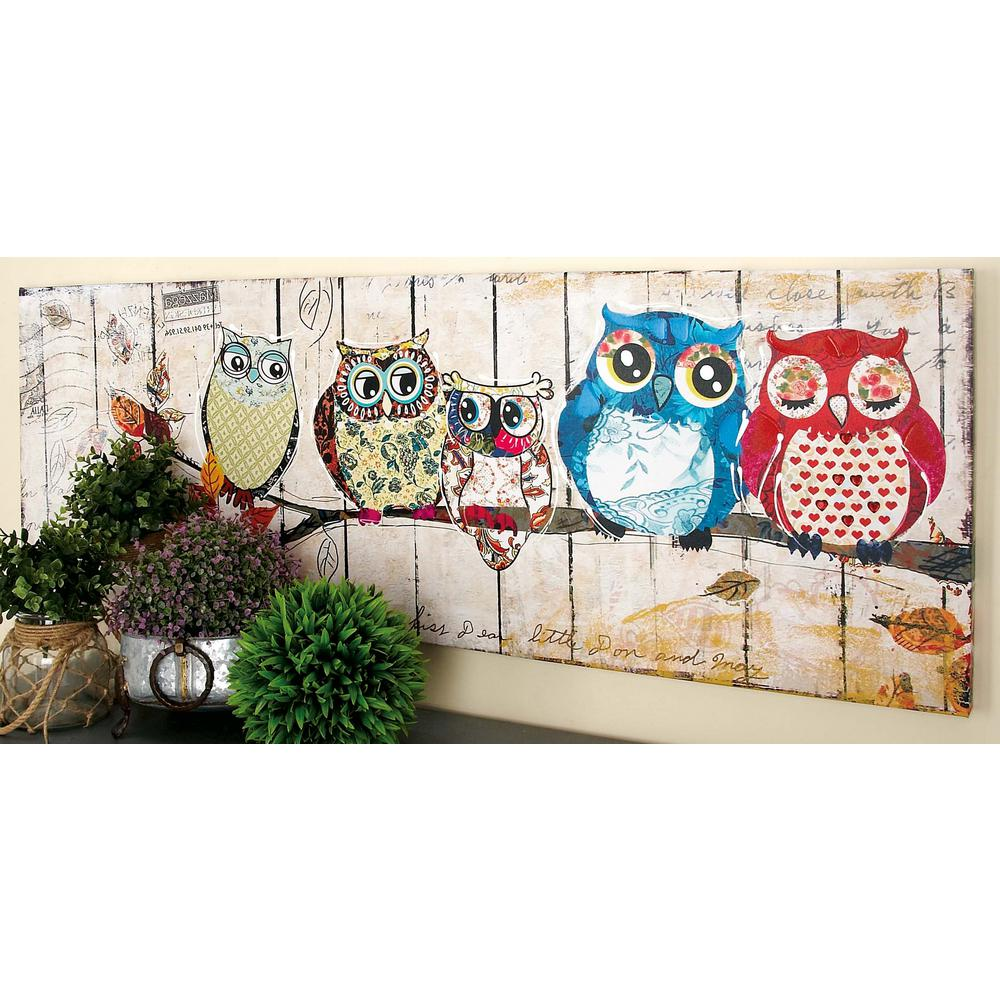 owl home decor accessories 20 in x 59 in quot colored owl quot canvas 38516 the home 11686