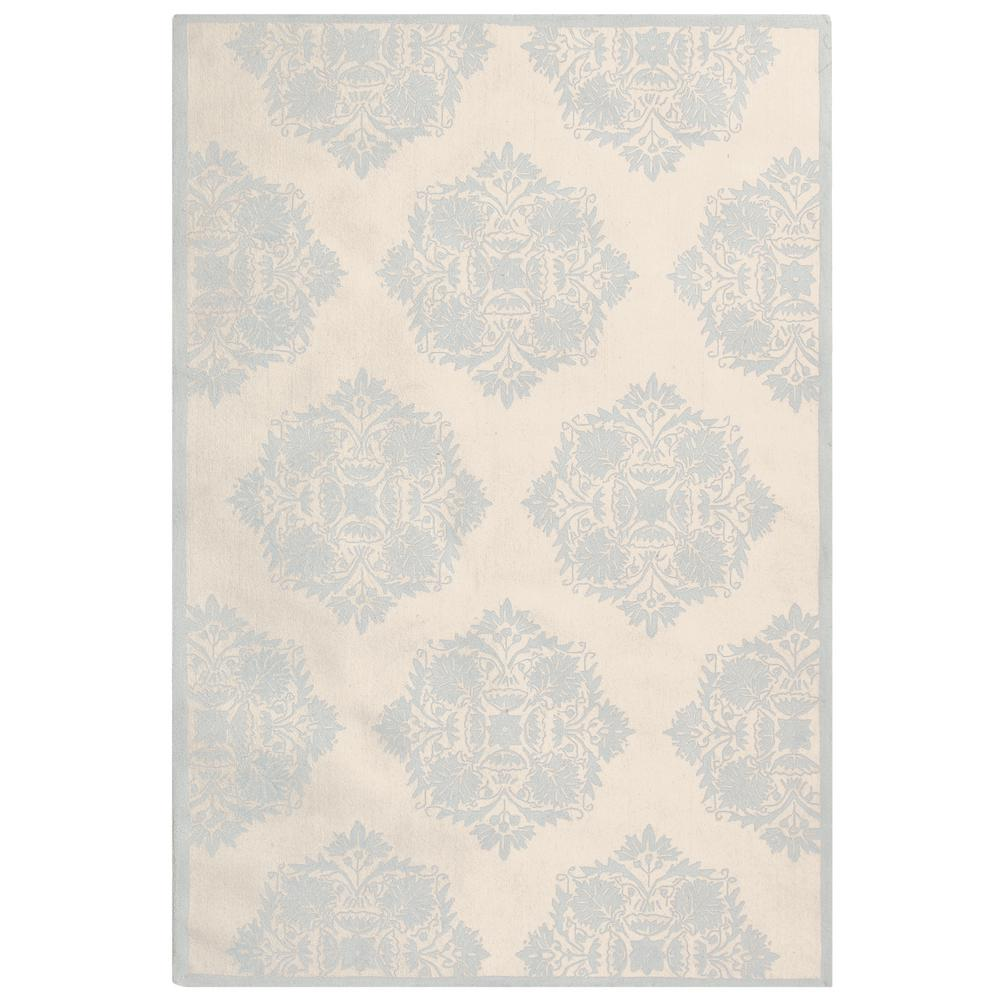 Chelsea Ivory/Blue 5 ft. 3 in. x 8 ft. 3 in.
