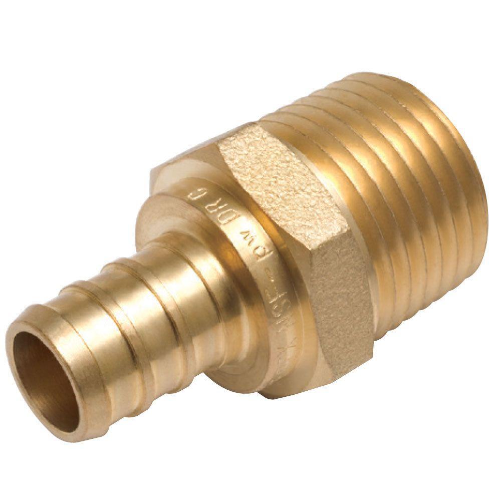 SharkBite 1/2 in. PEX Barb x MIP Brass Adapter Fitting