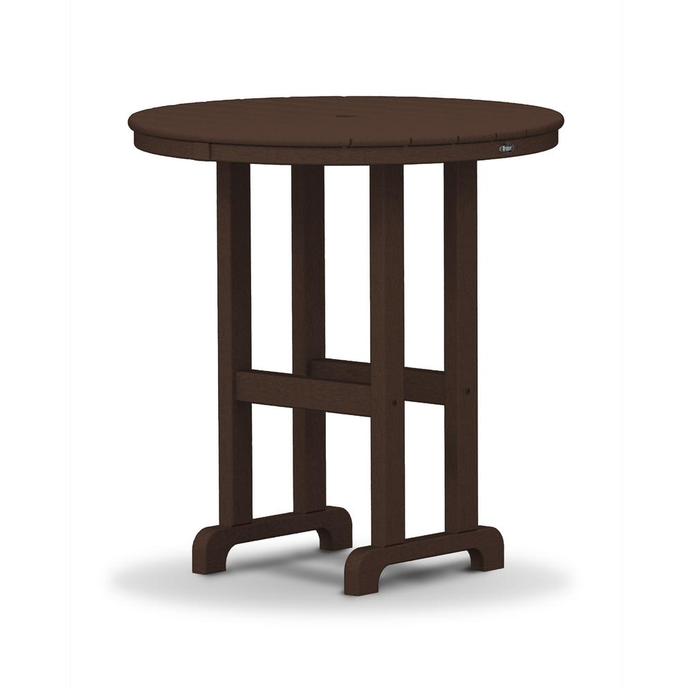 Trex Outdoor Furniture Monterey Bay 36 In. Vintage Lantern Round Patio  Counter Table