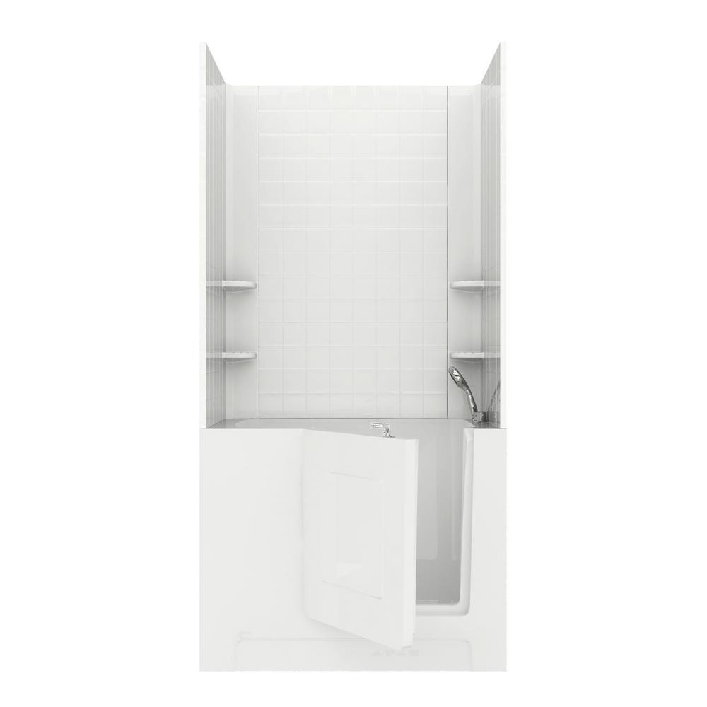 Rampart 4 ft. Walk-in Air Bathtub with 4 in. Tile Easy
