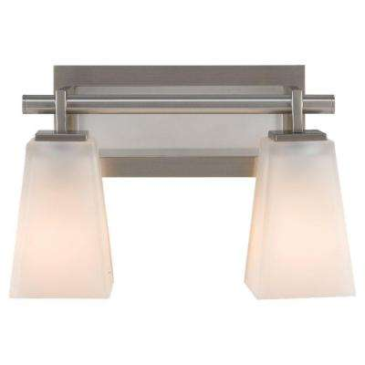 Clayton 2-Light Brushed Steel Vanity Light