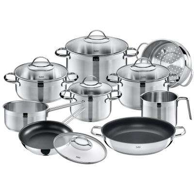 Achat 14-Piece Stainless Steel Cookware Set with Lids