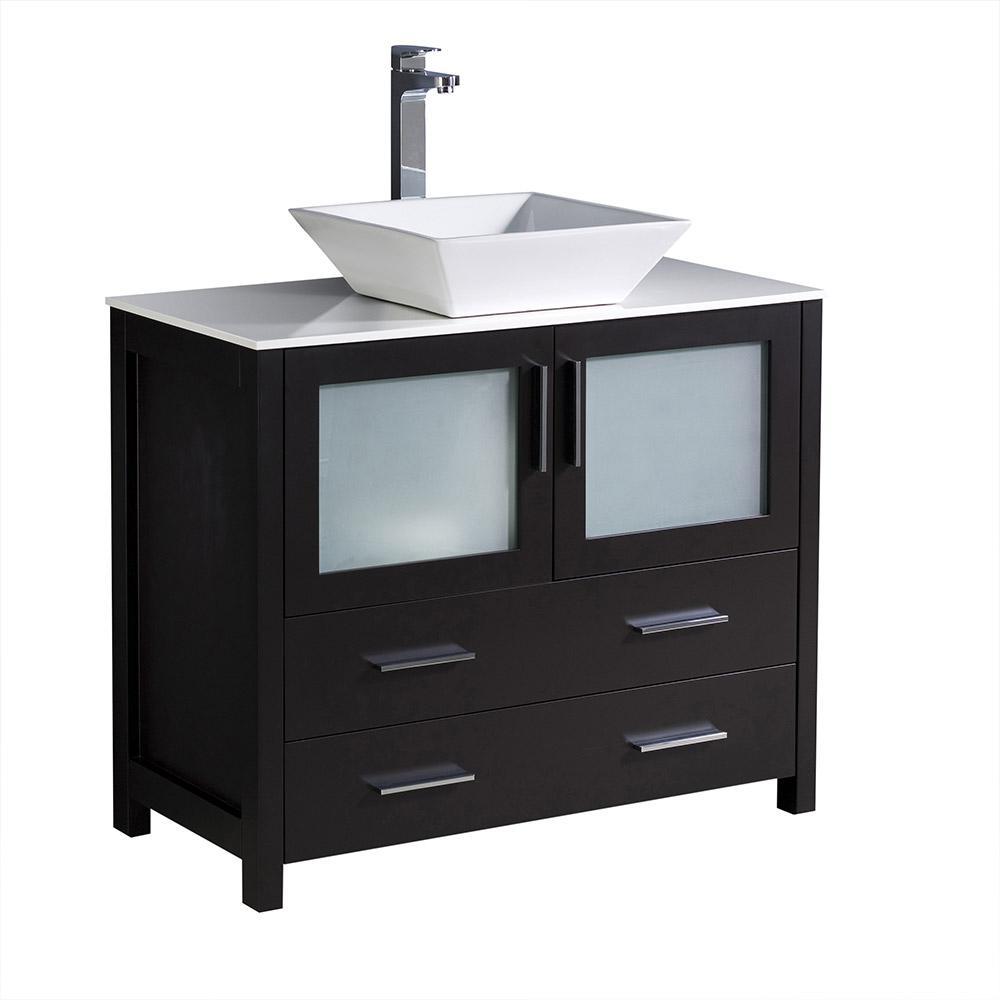 Home Decorators Collection Zen 23 3/4 In. W Bath Vanity In Espresso With  Marble Vanity Top In Carrara ZEEA2421   The Home Depot